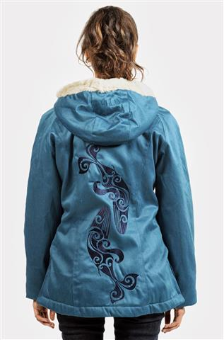 5c455ddc6c2  SALE  Ladies  Classic Hoodlamb Sea Shepherd Divine Wind Design (LCH-S)