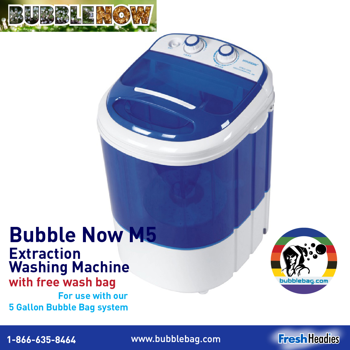 Bubble Now M5 | 5 Gallon Extraction Washing Machine (BNM5)