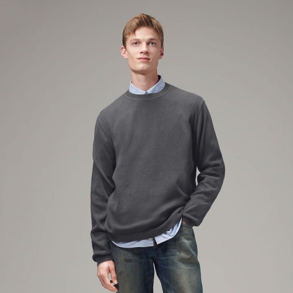 Men's Knit Crewneck Sweater (MYK-002)