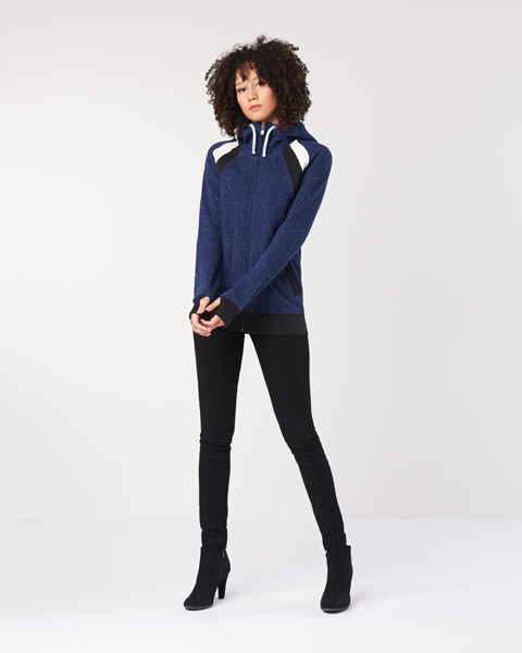 Ladies' Colour Block Hoodie (LHT5CB)
