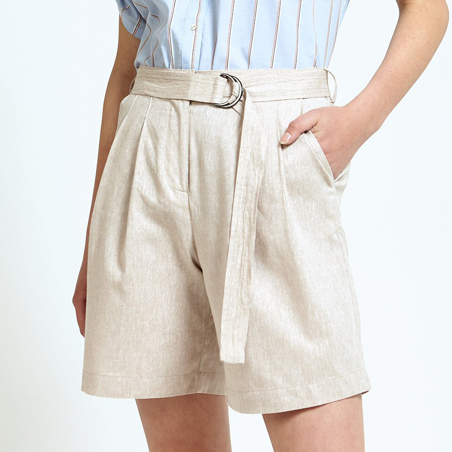 Ladies' Belted Wide Leg Shorts (LP-20002)
