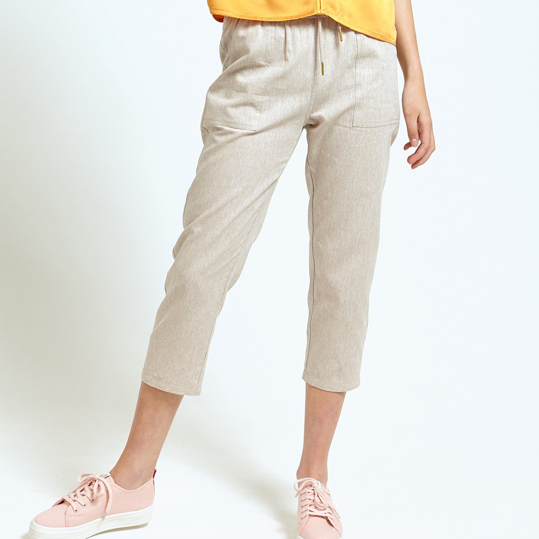 Ladies' Drawstring Crop Pants (LP-20005)