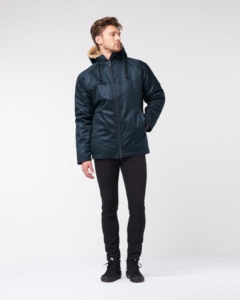 Men's Classic Hoodlamb Coat Midnight Blue Small *LAST ONE* (MCH) [W18]