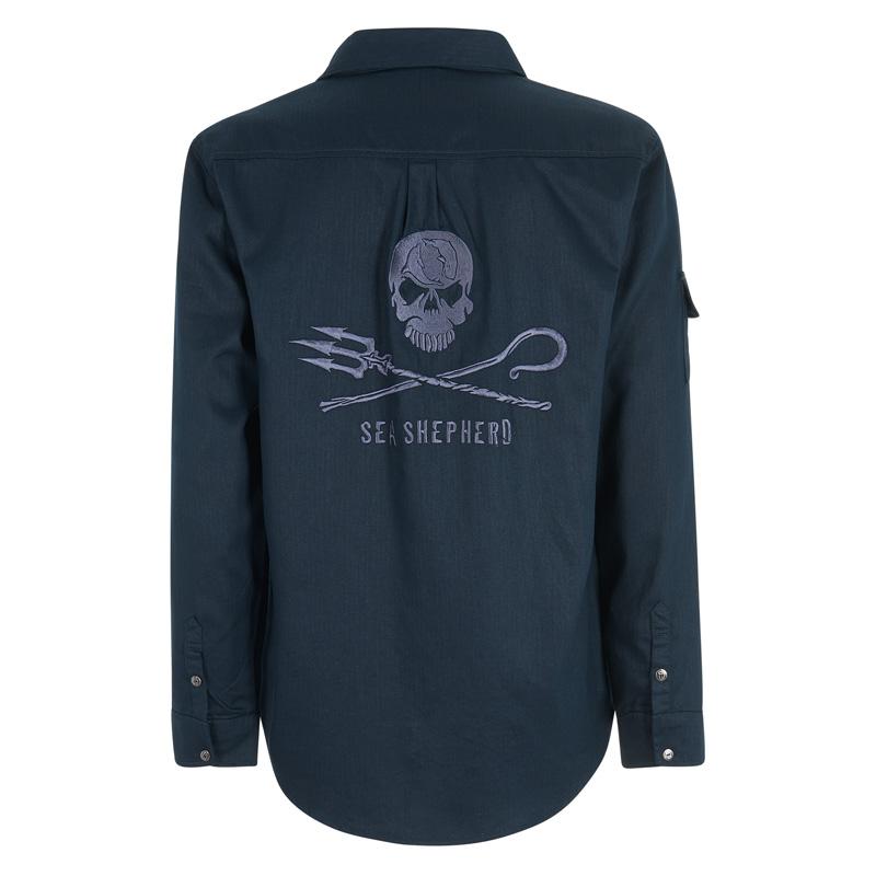 Men's Sea Shepherd Herringbone Long Sleeve Shirt (MLS2-S)