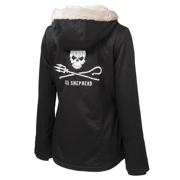 Ladies' Classic Hoodlamb Sea Shepherd Jolly Roger Design (LCH2-S)